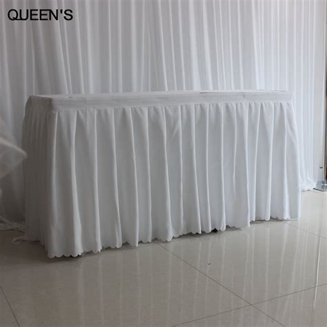 cheap polyester table skirts popular table skirting buy cheap table skirting lots from