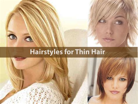 Hairstyles For With Thin Hair by Hairstyles For Thin Hair Hairstyle For