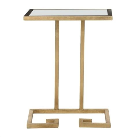 iron accent table safavieh murphy iron and glass accent table in gold and