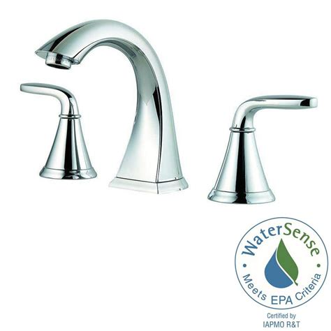 bathroom sink faucets home depot pfister pasadena 8 in widespread 2 handle bathroom faucet in polished chrome lf 049 pdcc the