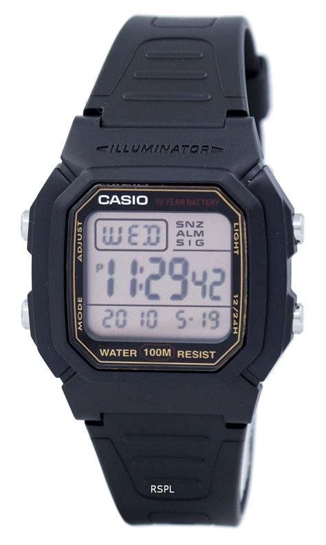 Casio Digital Pria W 800hg 9av casio digital alarm illuminator w 800hg 9avdf w 800hg 9av