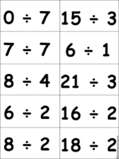 printable flash cards division turkey bingo one digit numbers enchantedlearning com