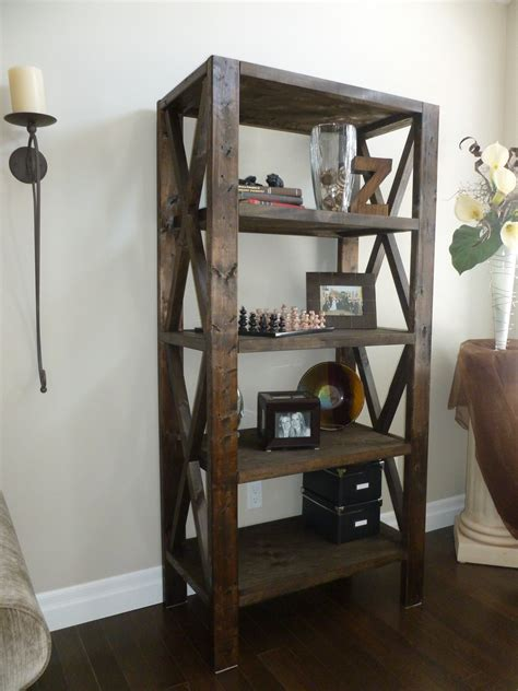 white rustic bookcase diy projects