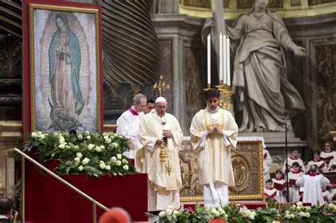 imagenes virgen de guadalupe con el papa con misa a la virgen de guadalupe el papa iniciar 225 camino