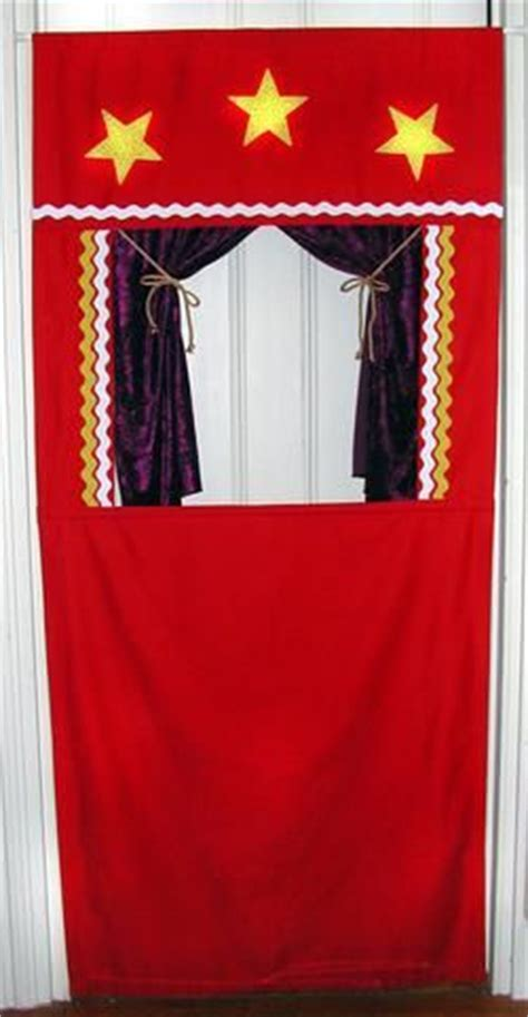 puppet show curtain puppet theater hang in a doorway from a spring tension