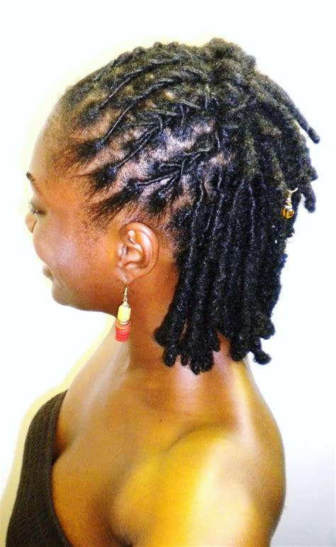 starter locks on shoulder length hair locs half up half down short dreads styles pinterest