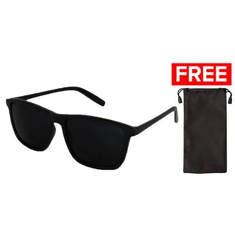Kacamata Id Sunglass Sun 1022 Frame Hitam Lensa Plastik Coklat jual fashion pria murah terlengkap mataharimall