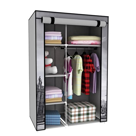 Storage Wardrobe With Shelves by 42 Quot Big Ben Portable Wardrobe Closet Organizers Rack Storage With Shelves Ebay