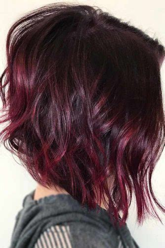burgundy short messy bob 21 ideas of inverted bob hairstyles to refresh your style