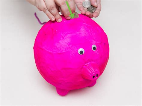 How To Make Paper Piggy Bank - 3 ways to make a piggy bank wikihow