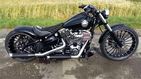 Exhaust For Harley Davidson by Harley Davidson Fxsb Breakout Exhaust Sound Harley