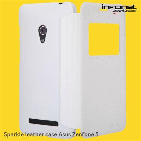 Baru Flip Nillkin Asus Zenfone Go 4 5 2016 Zb452kg Sparkle Serie jual nillkin flip cover asus zenfone 5 sparkle leather