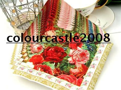 Selling Decoupage Items - 20 pcs decoupage wedding paper napkins 100