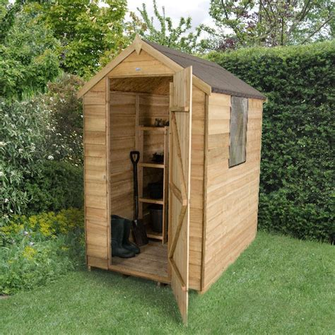 forest overlap pressure treated apex shed  elbec