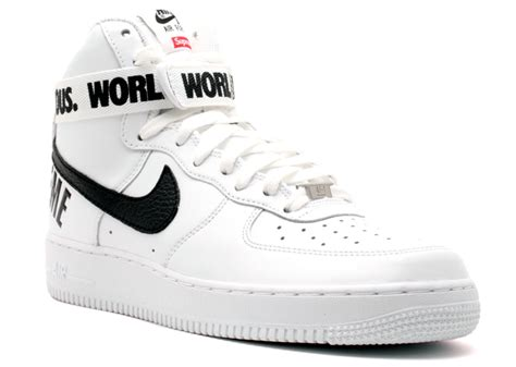 supreme nike air 1 air 1 high supreme sp white black