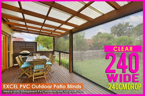 clear plastic l shade protectors 240cm x 240cm heavy duty pvc clear patio cafe blinds