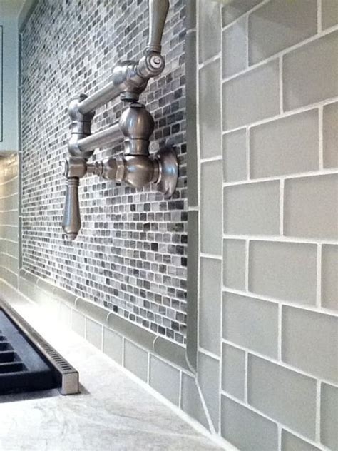 smoke gray glass subway tile 17 best ideas about glass subway tile on www