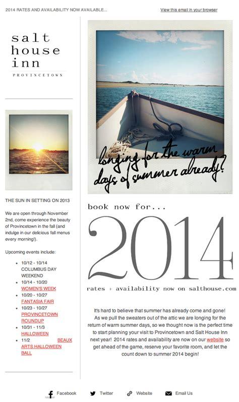 salt house inn esempi di newsletter e email marketing brillanti