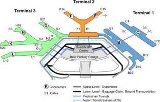 Chicago O Hare Airport Map by Chicago Ohare Airport Terminal Map