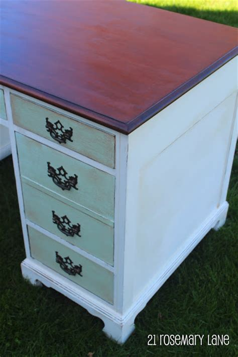 Chalk Painted Desk by 21 Rosemary Chalk Paint Desk Reveal