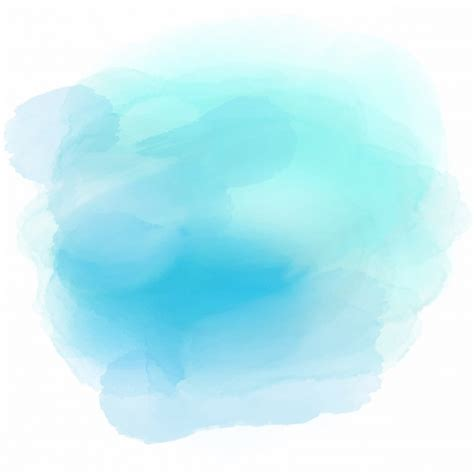 blue water color soft background with a blue watercolor stain vector