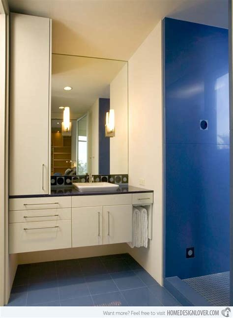 Steel Blue Bathroom by 18 Cool And Charming Blue Bathroom Designs Home Design Lover