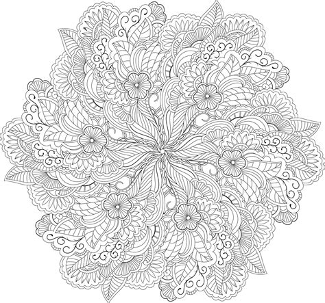 intricate floral coloring pages 1000 images about mandala coloring on pinterest