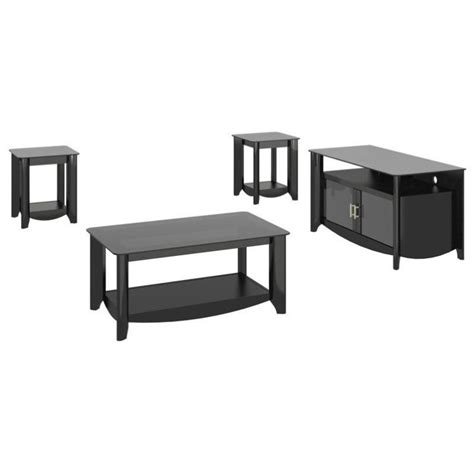 Tv Stand And Coffee Table Set Bush Aero Coffee Table Set With Tv Stand In Classic Black Aer006bk