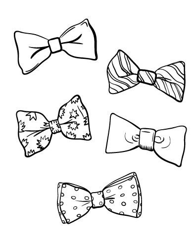 Bow Coloring Page by Clown Bow Tie Coloring Page Coloring Pages