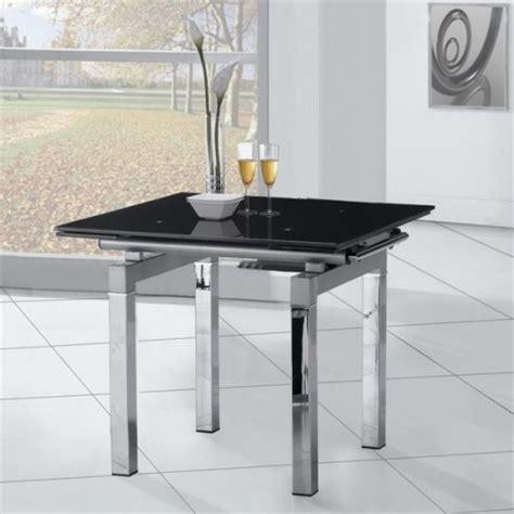Glass Extending Dining Table Extending Glass Dining Table Mini Black