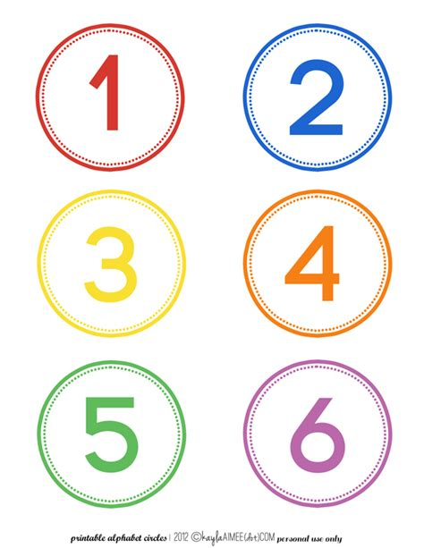 Printable Numbers On Circles | number in circle clipart 53