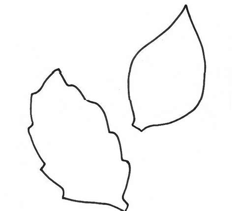 leaf cut outs templates leaf template clipart best