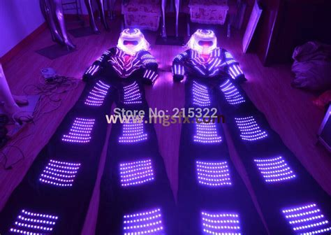 Custom Free World Wide Ship Led Light Robot Laser Gloves Cos buy robot led costume costumes l ed suit led stage international manufacturing company store