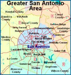 map of san antonio and surrounding area san antonio map free printable maps