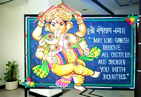 ganpati decoration ideas for home card boards art craft ideas and bulletin boards for elementary