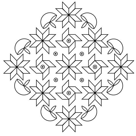 color pattern templates free printable rangoli coloring pages for kids