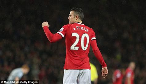 Kaos Robin Persie manchester united striker robin persie shows new