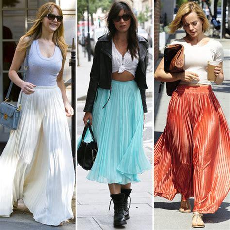 how to wear a maxi skirt glam radar