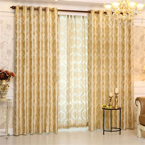 elegant bedroom curtains 2017 european gold gold jacquard royal deluxe blue curtain