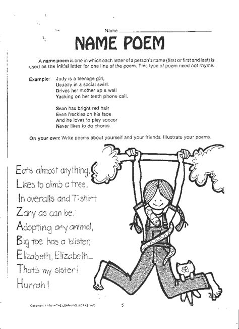 poems with a pattern year 2 free poetry worksheets name poem 3rd grade poetry