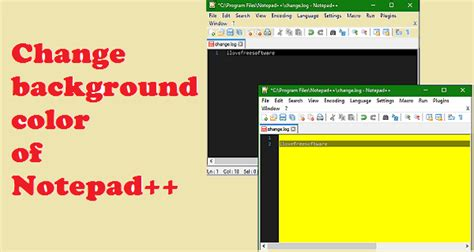 tutorial html background color how to change background color of notepad