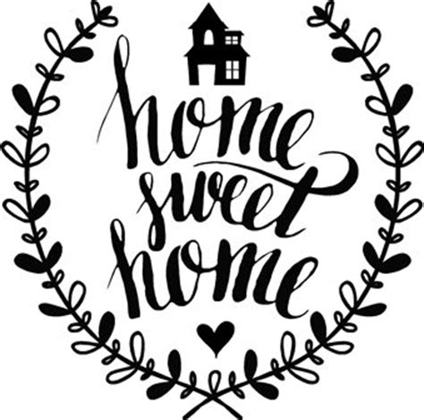Home Sweet Home Decoration quot home sweet home quot vinyl wall decal sign quote with a