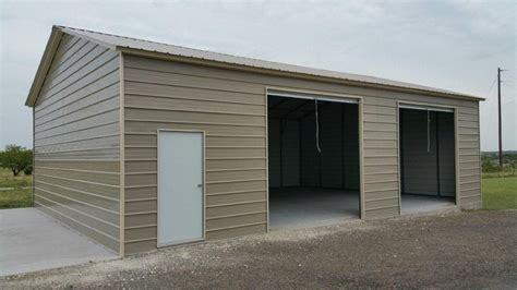 Two Car Garage With Carport by 2 Car Metal Garage American Steel Carports