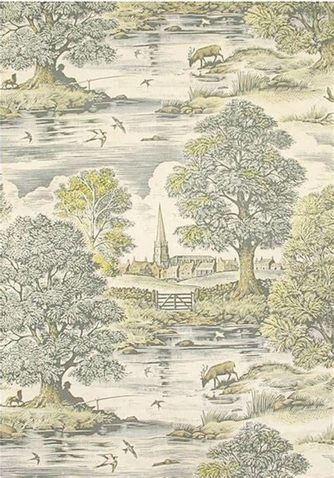 tableau curtain green toile curtains and toile on pinterest