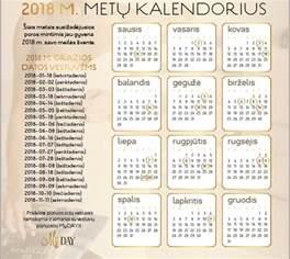 2018m Kalendorius 2018 M šventinės Dienos Ilgieji Savaitgaliai Ir Gražios