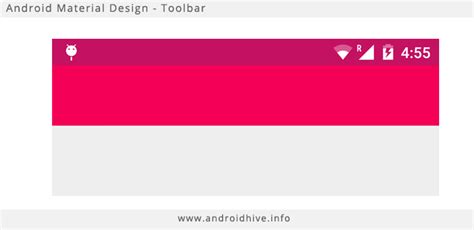 android studio layout toolbar android getting started with material design