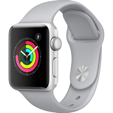Apple Series 3 Gps Mqku 38mm Silver Aluminium With Fog Sport Ban apple series 3 38mm zilver aluminium mistgrijs