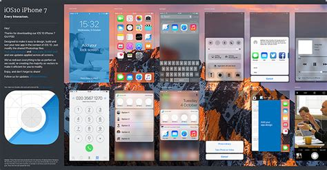 ios photoshop template ios 10 gui iphone 7 psd sketch every interaction