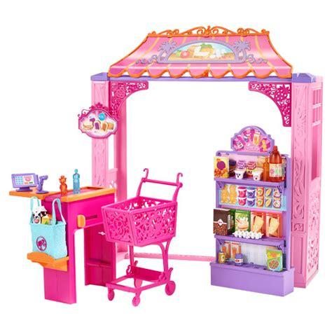 shopper rooms to go superette de malibu mattel king jouet accessoires de poup 233 es mattel poup 233 es peluches