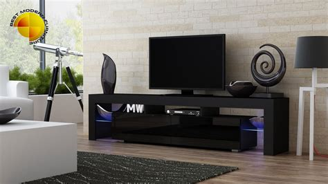 high gloss modern tv stand cabinet rgb led lights